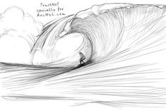 How to draw waves in 5 steps