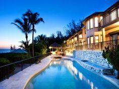 Beachfront mansion in Florida.