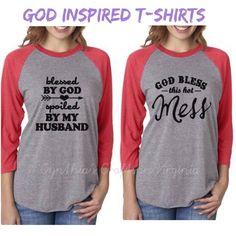Custom Made T-shirts  #specialprice $20 each up to XL and $24 for 1XL to 3XL  #christiantshirts #tshirts #god #godblessed #blessed #holidaytshirt #christmastshirt #christmasapparel #christian #godtshirts #tshirt #raglan #htv #cynthiascraftsinvirginia #churchtshirt #church #pwc #woodbridge