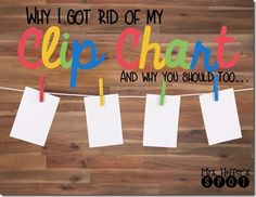 I am being honest over at the blog this morning! I am talking about our journey away from the clip chart!