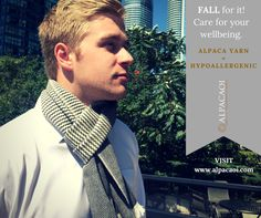 FALL for it! NEW products . Get 15% off when subscribing. www.alpacaoi.com #menscarves #menelegant #giftideas #gifts #accessories #clothing #LGBT #natural #green #handmade #ideasforgift #hypoallergenic Lgbt, Textiles, Wool, Elegant, Natural, Green, Clothing, Handmade, Gifts