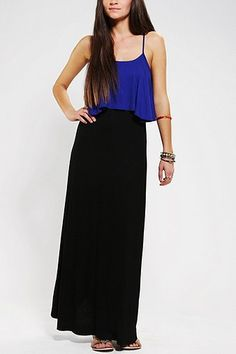 Staring At Stars Knit Layered Maxi Dress from Urban Outfitters!