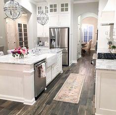 Home Interior Living Room .Home Interior Living Room Diy Kitchen Decor, Home, Kitchen Remodel Small, Kitchen Design, Stylish Kitchen Island, White Kitchen Design, Gorgeous Kitchens, Kitchen Style, House Interior