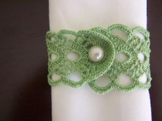 crochet  napkin rings 2 pieces by mehves1979 on Etsy, $7.00