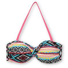 Malibu Dream Head Games Tribal Twist Bandeau Bikini Top