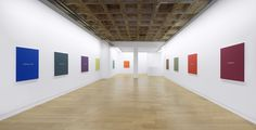 "Meg Cranston & John Baldessari, ""Real Painting (for Aunt Cora)"", Installation View, Galerie Michael Janssen Berlin, 2013"