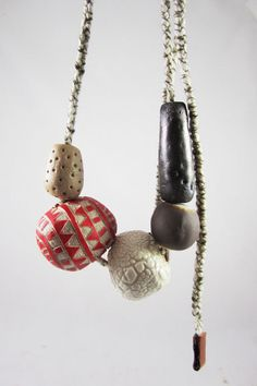 Beaded Ceramic Necklace by stvdiobrooklyn