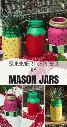Looking for a fun DIY project you can do when the kids are home for the summer? Grab your old jars, some paint, and your creativity! Learn how you can make your very own DIY summer-inspired fruit mason jars that you can take the beach, a backyard BBQ or even just as far as your own kitchen!
