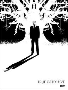 """True Detective"" by Jay Shaw. 18″ x 24″ Screenprint. Ed of 120 N."