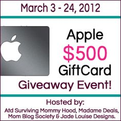 Win a Apple Store Gift Card ends 3/24 @ 12:01am