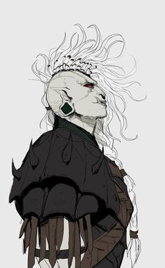 """""""Time for some badass Albino orc lass. Character Creation, Fantasy Character Design, Character Drawing, Character Design Inspiration, Character Concept, Concept Art, Dungeons And Dragons Characters, Dnd Characters, Fantasy Characters"""