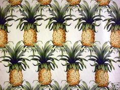 Cotton Tropical Pineapple Print