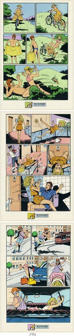 성적코드가 교묘하게 그려낸 MTV 일러스트 광고!! Sex Is No Accident