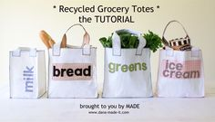 Recycled Grocery Totes – MADE EVERYDAY