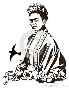 vector-stylization-photo-famous-artist-mexico-her-signature Famous Artists, Mexico, Illustration, Illustrations