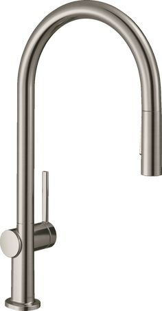 hansgrohe Kitchen faucets: Talis N, HighArc Kitchen Faucet, O-Style 2-Spray Pull-Down, 1.75 GPM, Art. no. 72800801 | hansgrohe USA Tidy Kitchen, Kitchen Mixer, Kitchen Taps, Hose Box, Kitchen Base Cabinets, Halfway House, Bathroom Showrooms, Bathroom Taps, Kitchen Installation