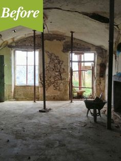Renovated Cave in France - Before Photo