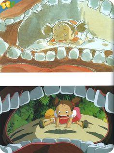"""Catalogue de l'exposition """"MIYAZAKI MŒBIUS, 2 artistes dont les dessins prennent vie"""" - Mon voisin Totoro"""