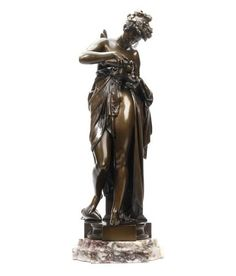 *Albert Ernest Carrier-Belleuse (French, 1824 - 1887) - A bronze of Psyche