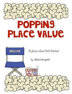 popcorn place value math center - Allison Obergefell - TeachersPayTeachers.com