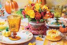 Una mesa bella para dar las gracias