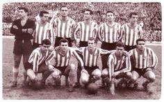 Equipos de fútbol: REAL BETIS contra Sevilla 11/01/1959
