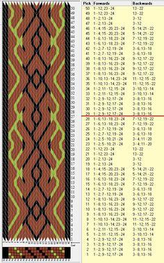 24 tarjetas, 3 colores, repite cada 28 movimientos // sed_720 diseñado en GTT༺❁