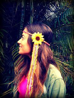 EDC Neon Flower Headbands by GypsyHalos on Etsy, $22.00