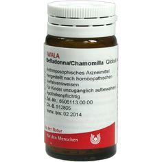 BELLADONNA CHAMOMILLA Globuli:   Packungsinhalt: 20 g Globuli PZN: 08784372 Hersteller: WALA Heilmittel GmbH Preis: 5,99 EUR inkl. 19 %…