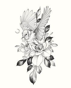 Shiva Tattoo Design, Floral Tattoo Design, Type Tattoo, Dark Tattoo, Flower Tattoo Drawings, Tattoo Sketches, Evil Mermaids, Petit Tattoo, Floral Thigh Tattoos