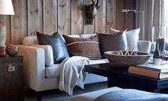LOVE - FOR - INTERIORDESIGN: Slettvoll-stilen! # 1 Home Fashion, Rustic Interiors, Interior Design Inspiration, My Dream Home, Interior Decorating, Pillows, House Styles, Bed, Furniture