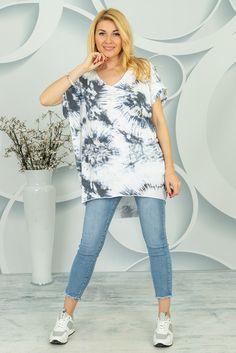 Oversizowa bluzka Centola Spring Collection, Tie Dye, Tunic, Tye Dye