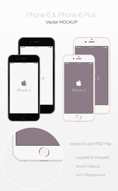 Free PSD iPhone 6 Mockups - graphberry.com