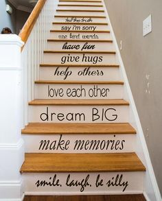 Family Wall Decal Quote Love Each Other Art Mural Stair Riser Vinyl Sticker Home Bedroom Stairs Decor Dorm Living Room Design Interior Black