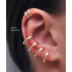 Fake piercing-Cool and Stylish Look Enjoy %SALE Price on 2 cartilage... (13 CAD) ❤ liked on Polyvore