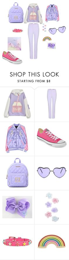 """Milk #milk"" by nastya-anas-mikheeva on Polyvore featuring мода, Carven, Converse, Love Moschino, Monsoon, RED Valentino и Georgia Perry"
