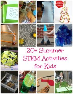 Summer STEM Activities for Kids - Keep the kids playing and learning all summer long with this super fun collection of science, technology, engineering and math activities.