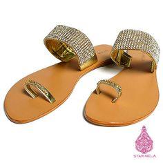 STARMELA tonged sandals スターメラ ストーン付き トング サンダル