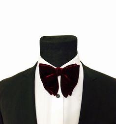 d599f162a3b Mens Burgundy Bow Tie - Tom Ford Inspired Velvet Bowtie