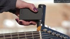 Roadie 2 automatic guitar tuner More info: http://www.gadgetify.com/roadie-2-automatic-guitar-tuner/ works on ukuleles and other instruments too