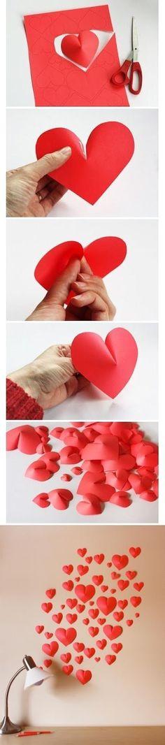 Kırmızı karton ve uhu ile duvarımıza kalpler yapıyoruz. <3 <3 <3 Kendim Yapıyorum Facebook sayfasını beğendiniz mi? www.facebook....