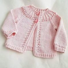 Sewing Patterns For Kids Baby Knitting Patterns Baby Patterns Sewing For Kids Newborn Crochet Crochet Baby Knit Crochet Baby Cardigan Knitting For Kids Baby Cardigan Knitting Pattern, Knitted Baby Cardigan, Knit Baby Sweaters, Knitted Baby Clothes, Girls Sweaters, Baby Knitting Patterns, Vogue Knitting, Lace Knitting, Cardigan Bebe