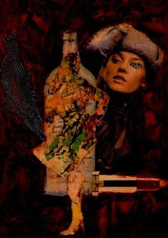 "Saatchi Art Artist CARMEN LUNA; Collage, ""36- Tesoros del COLLAGE."" #art"