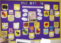 Materials classroom display photo from Naomi.