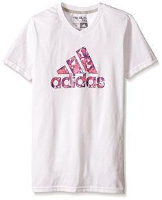 adidas Girls' 30S Short Sleeve Tee Flower ADI Logo - http://our-shopping-store.com