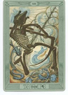 XIII. Death - Tarot Thot Crowley by Aleister Crowley and Frieda Harris