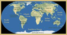 How Many Oceans And Seas There Is Only One Ocean In The World - Major oceans of the world map