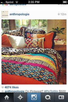 Multicolored Bedding