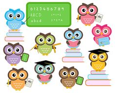 Great clipart for my owl-themed classroom!