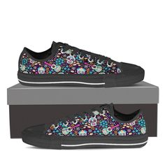 Skulls and Guitars Low Tops
